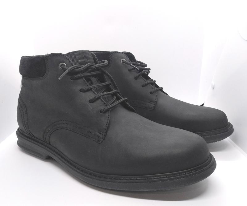 Шикарные утепленные кожаные ботинки clarks оригинал