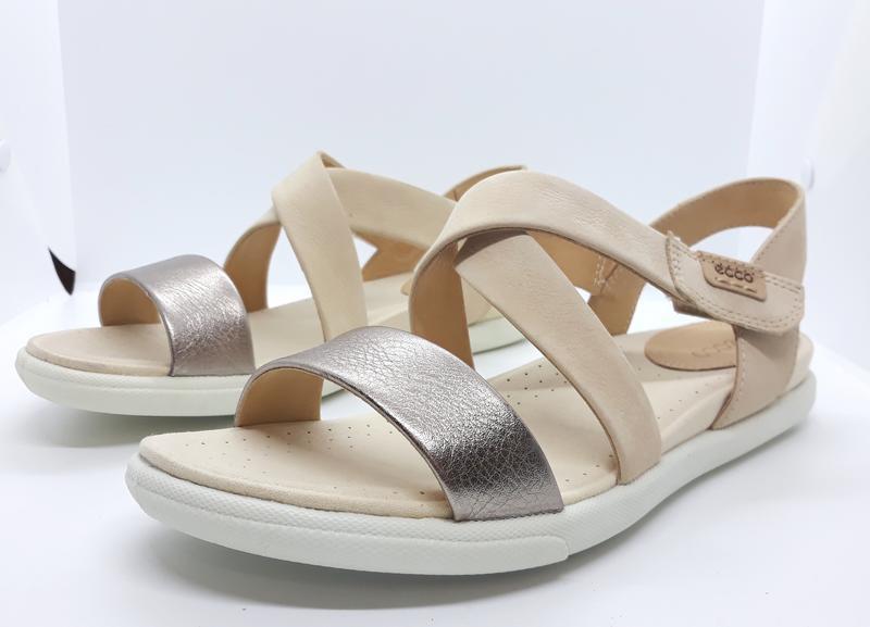 Шикарные кожаные босоножки стильные сандалии ecco damara sanda...