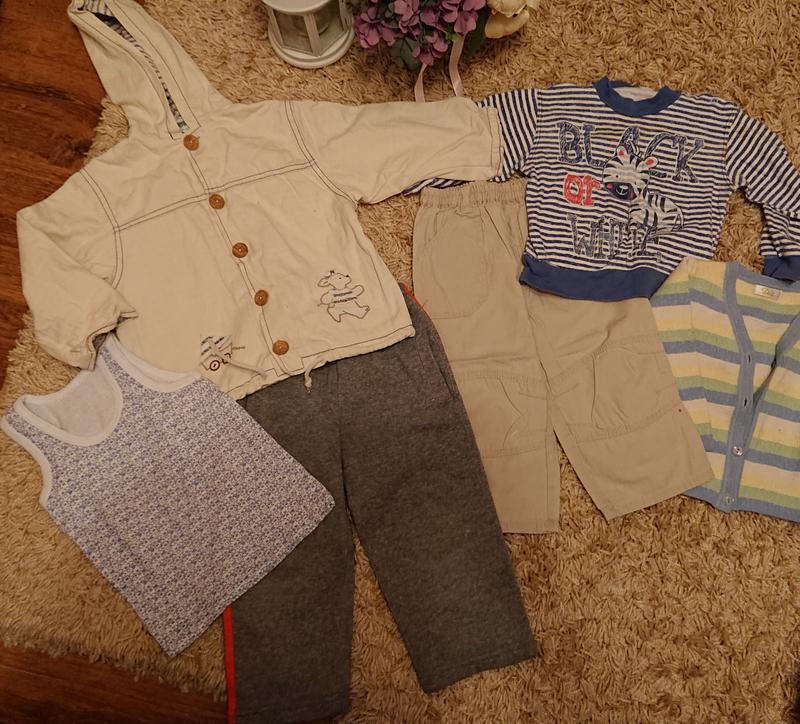 Комплект одежды на мальчика , куртка , штаны , кофта , майка 1...