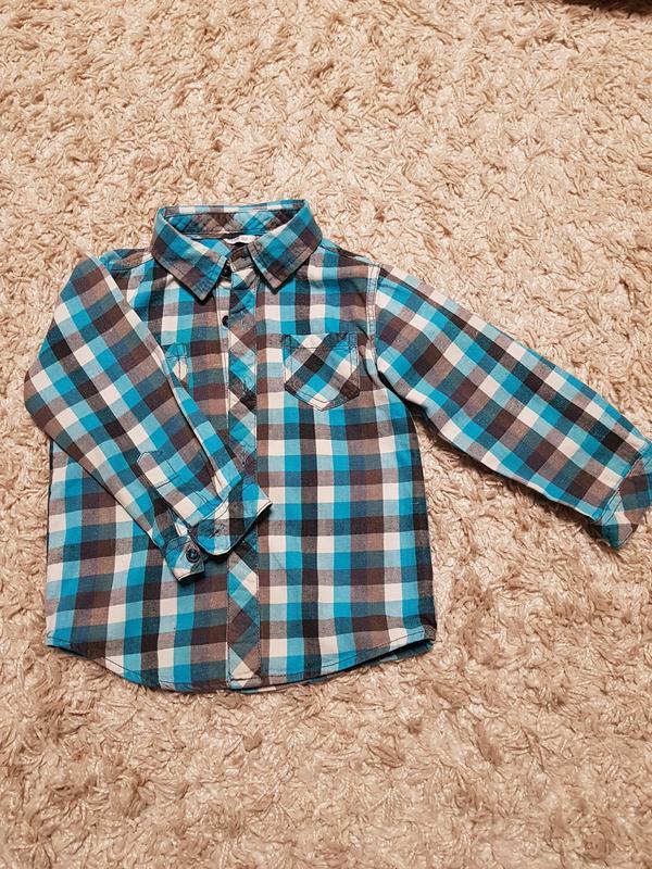 Фланелевая рубашка hema, размер 92см.