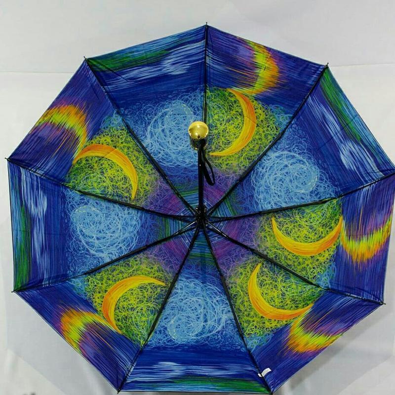 Яркий молодежный зонт-полуавтомат с двойной тканью