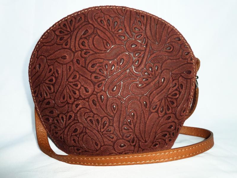Стильная сумка кроссбоди натуральная замшевая кожа real leathe...