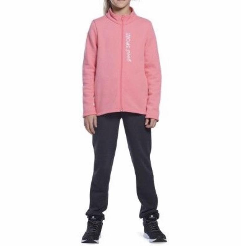 Decathlon новый теплый спортивный костюм для девочек на флисе ...