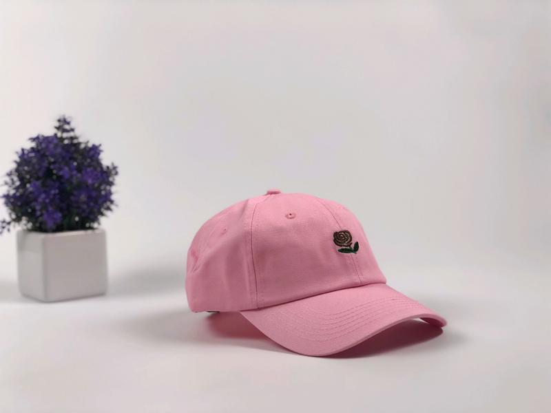 Кепка Бейсболка Мужская Женская The Hundreds Rose с Розой Розовая