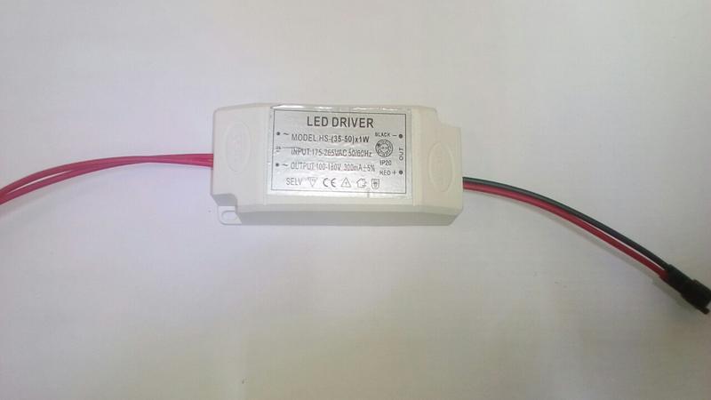 ЛЕД Драйвер универсальный 300 мА,100-180 В..LED driver - Фото 2