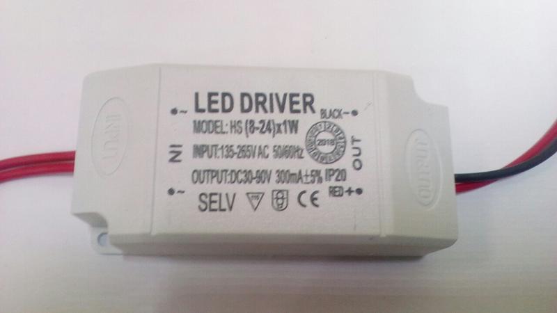 Лед драйвер , LED driver 260-300 mA , 30-90 V , 8-25 W