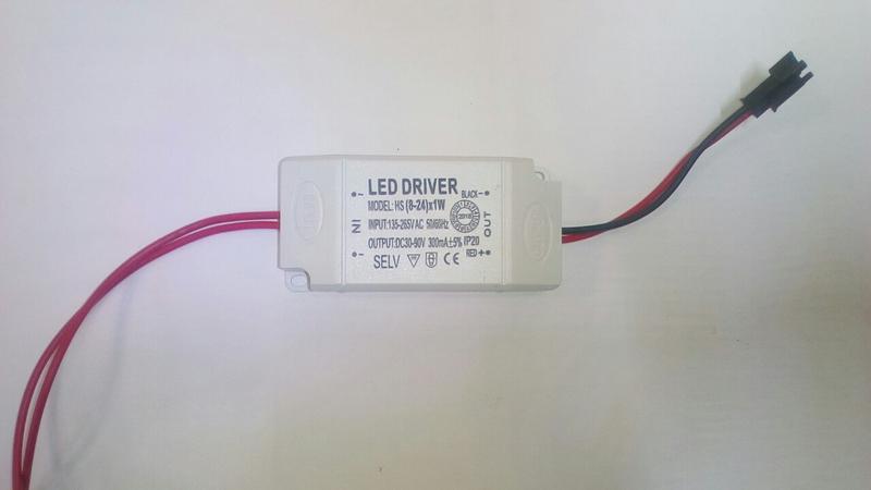 Лед драйвер , LED driver 260-300 mA , 30-90 V , 8-25 W - Фото 2