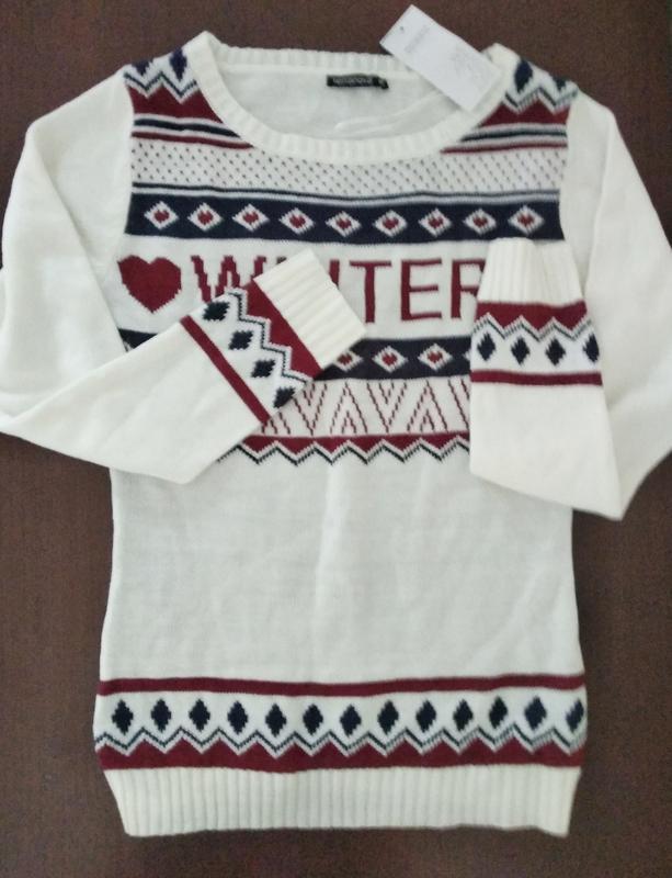 Мягенький свитерок с надписью, молодежная одежда