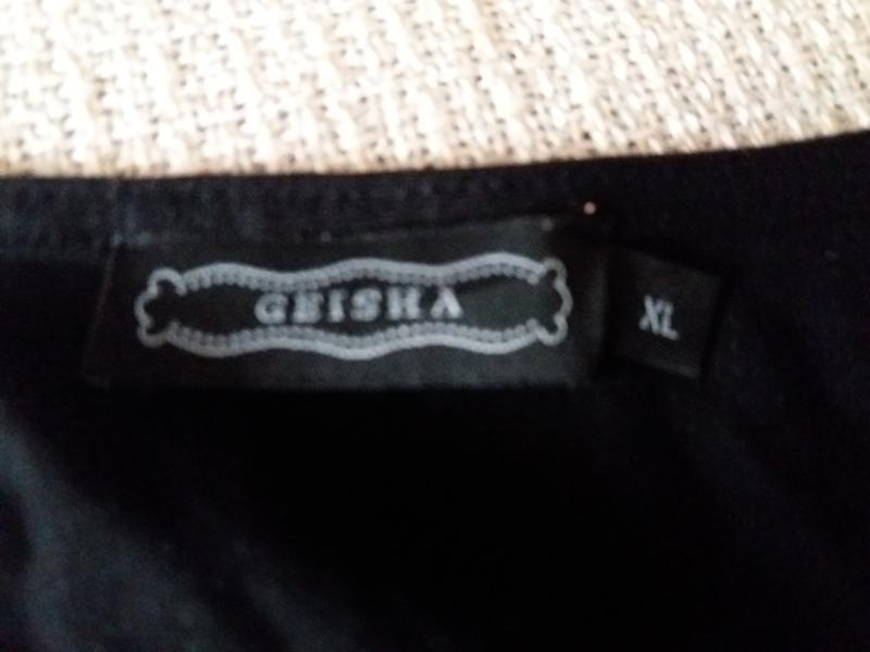 Прямое платье принт-вечерний  город - имитация  запаха-jeans g... - Фото 2