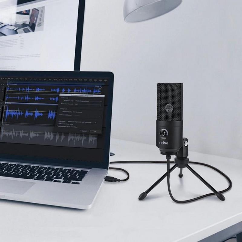FIFINE K669.Лучшый черный USB микрофон.В НАЛИЧИИ - Фото 4
