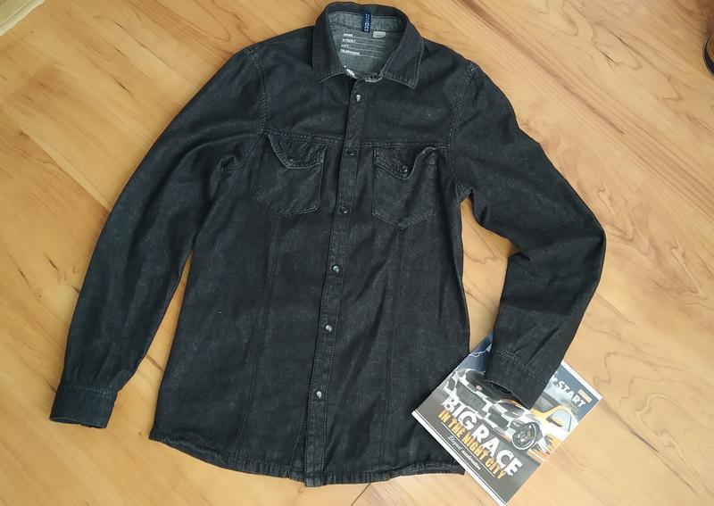 Модная рубашка джинс