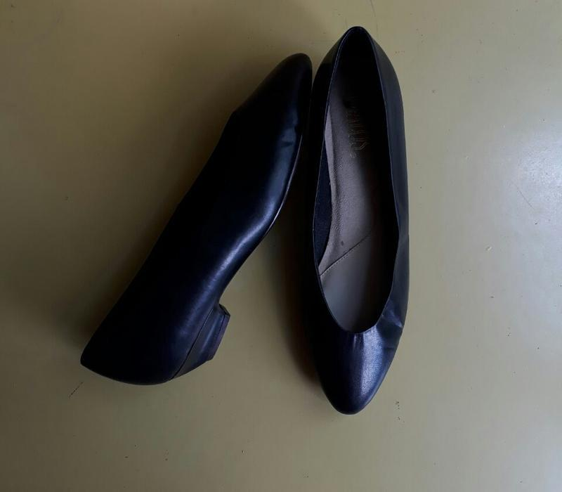 Кожанные туфельки - лодочки