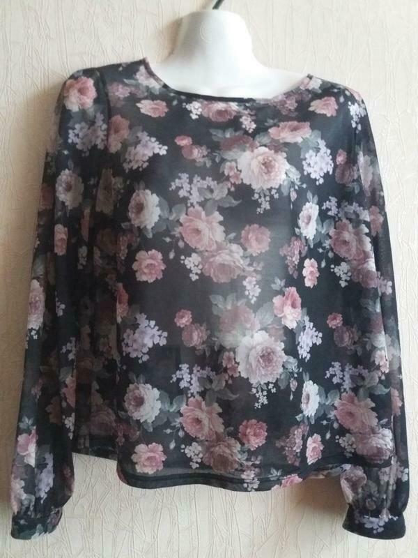 Блузка с открытой спинкой-бренд--new look--12\14р   №134 - Фото 6