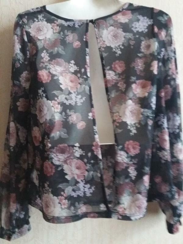 Блузка с открытой спинкой-бренд--new look--12\14р   №134 - Фото 7