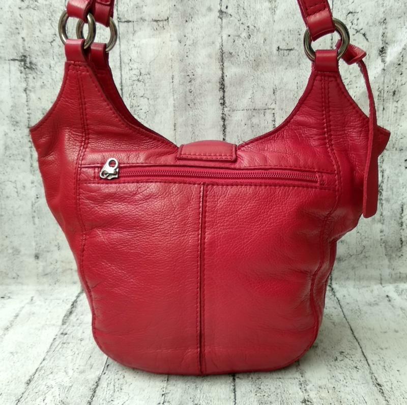 Брендовая сумка из плотной кожи от clarks made in india - Фото 3