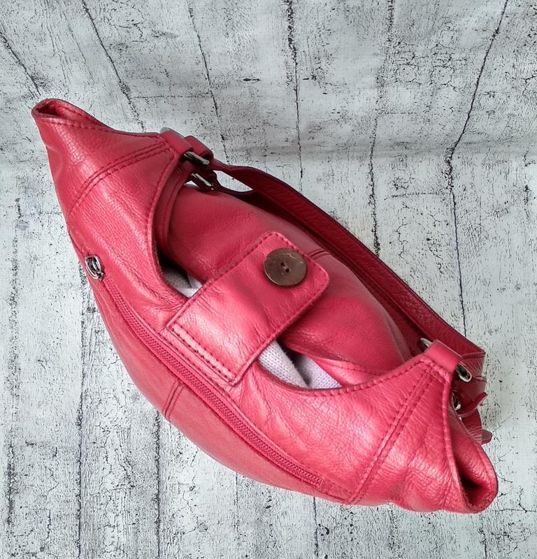 Брендовая сумка из плотной кожи от clarks made in india - Фото 4
