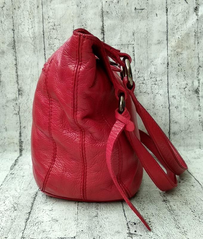 Брендовая сумка из плотной кожи от clarks made in india - Фото 6