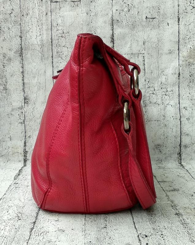 Брендовая сумка из плотной кожи от clarks made in india - Фото 7