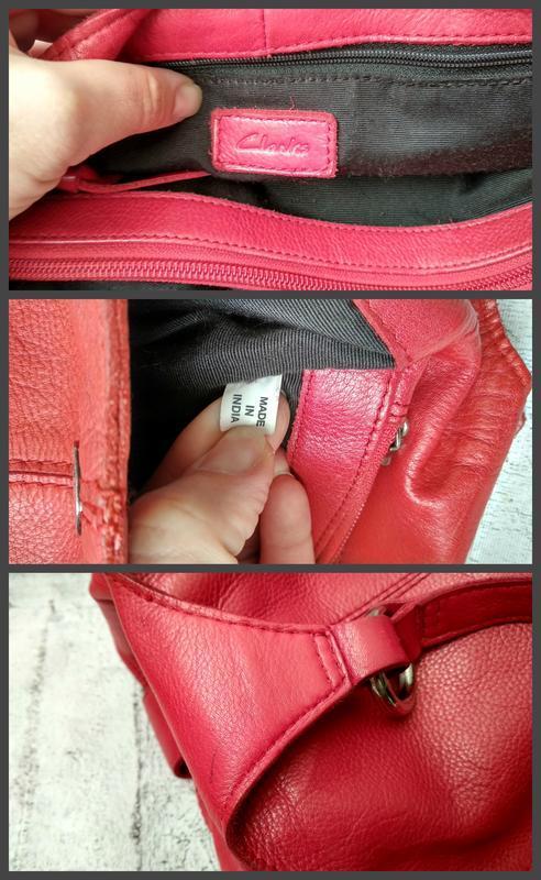 Брендовая сумка из плотной кожи от clarks made in india - Фото 9