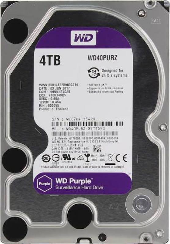 Жёсткий диск Western Digital Purple 4TB 64MB 5400rpm WD40PURZ 3.