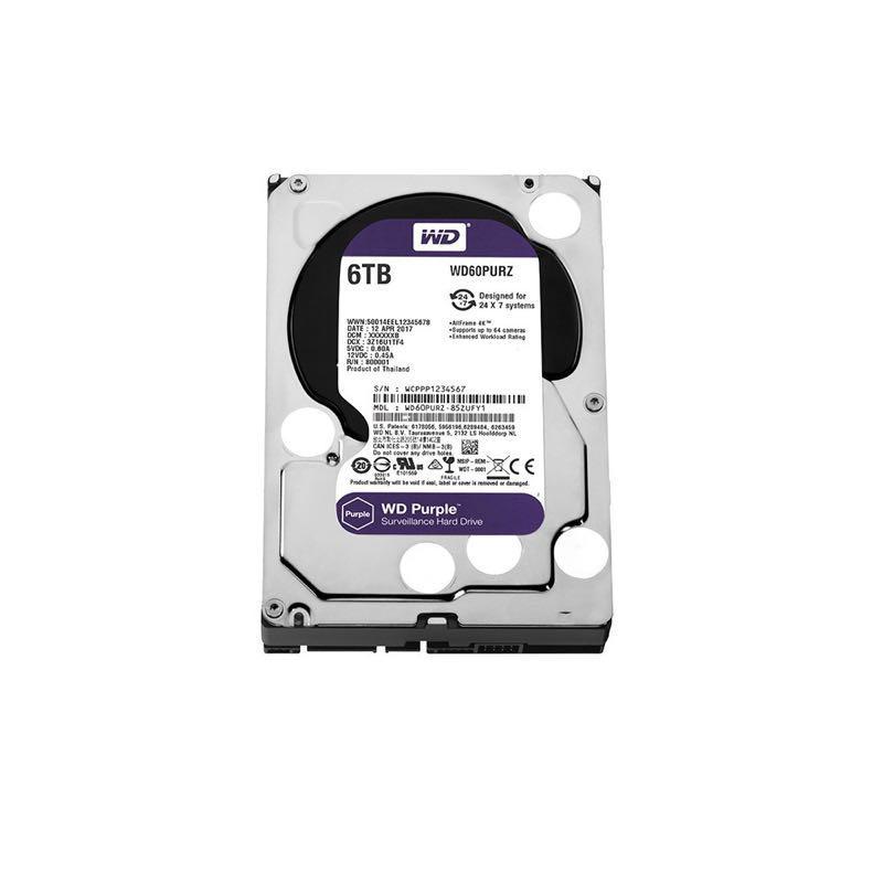 Жёсткий диск Western Digital Purple 6TB 64MB 5400rpm WD60PURZ 3.