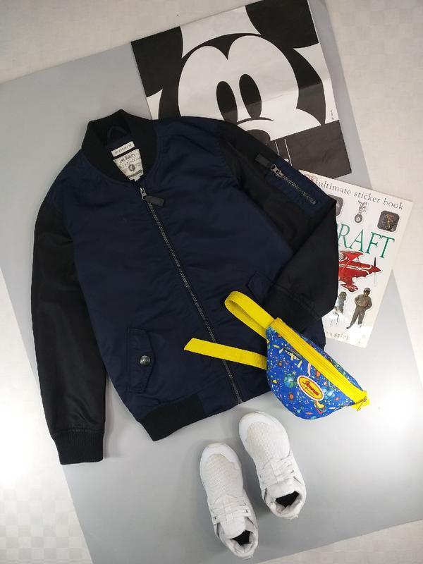 Куртка бомбер/ветровка синяя 9-10лет