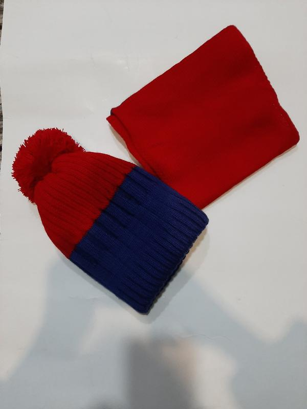 ???? детский комплект шапка +шарф ????