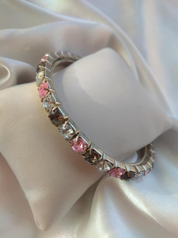 Винтажный браслет с кристаллами Англия