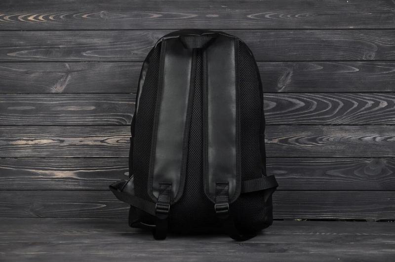 Рюкзак городской кожанный мужской, женский черный - Фото 3