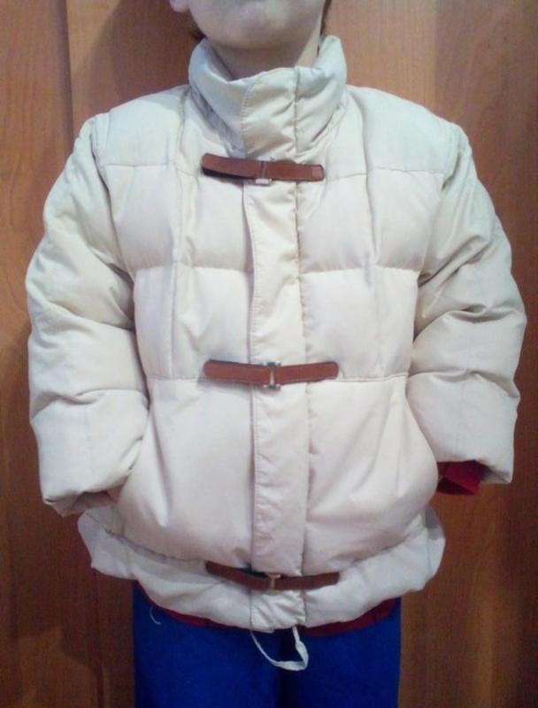 Пуховик, демисезонная курточка с пуха на 2-3 годика