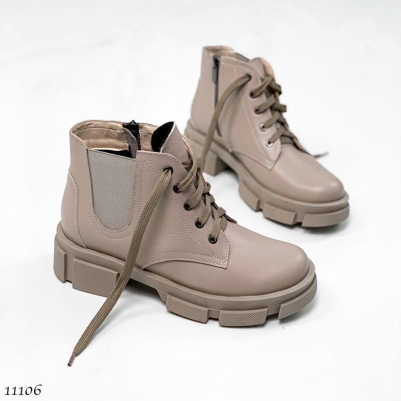 Короткие деми ботинки, натуральная кожа,в наличии и под заказ