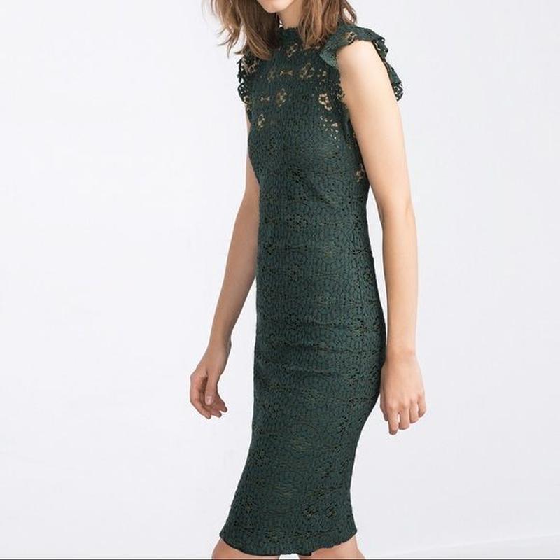 🔥🔥🔥чёрная пятница .🔥🔥🔥 кружевное платье миди zara