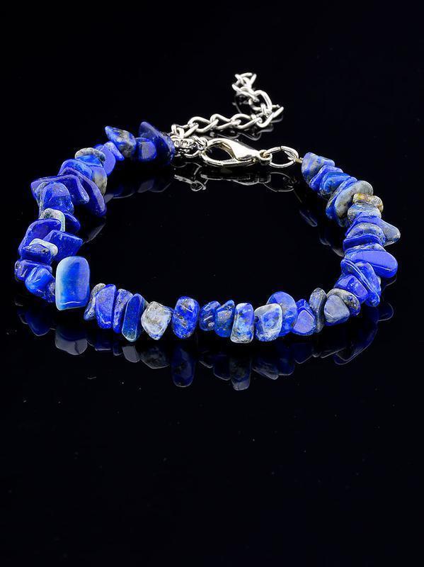 Шикарный браслет из натурального камня Лазурит