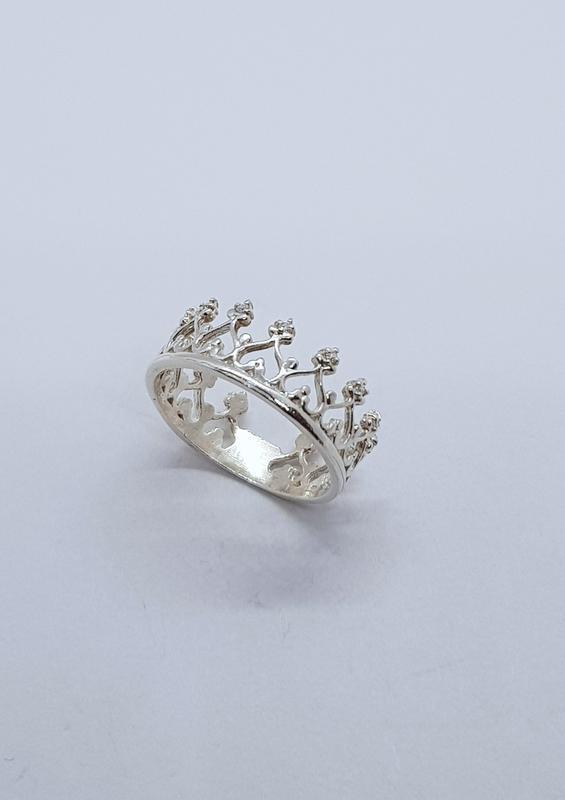 Кольцо корона серебро 925 проба