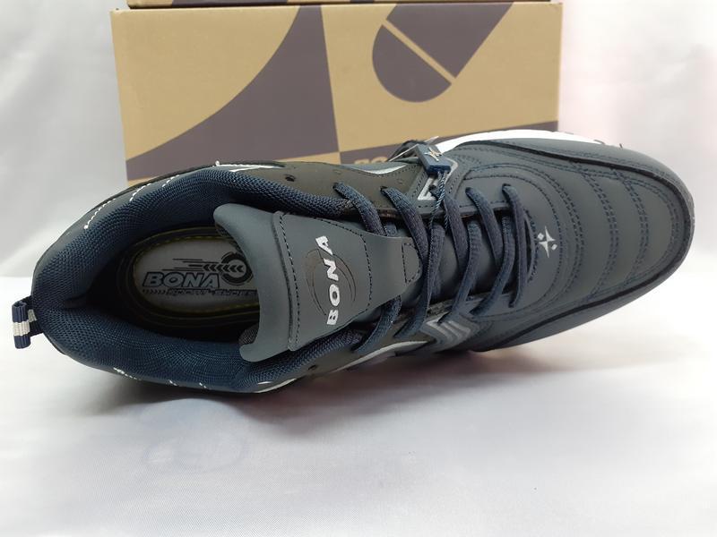 Скидка!комфортные кроссовки мужские синие из нубука bona 42-46р. - Фото 8