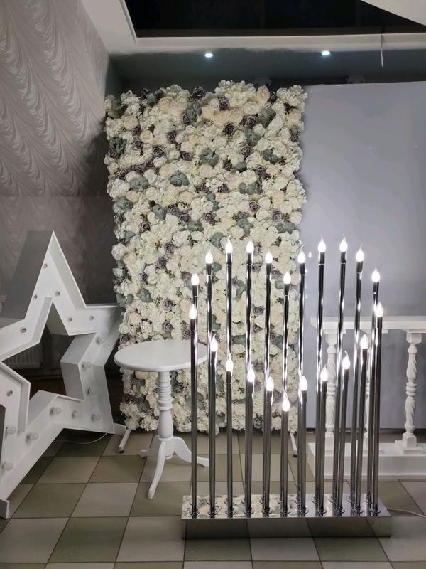 Підсвітка, подсветка, свічки . Декор для фотозон