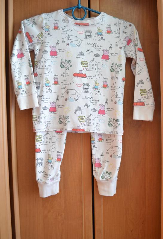 Раздельная пижама на девочку 5-6 лет, пижама свинка пеппа