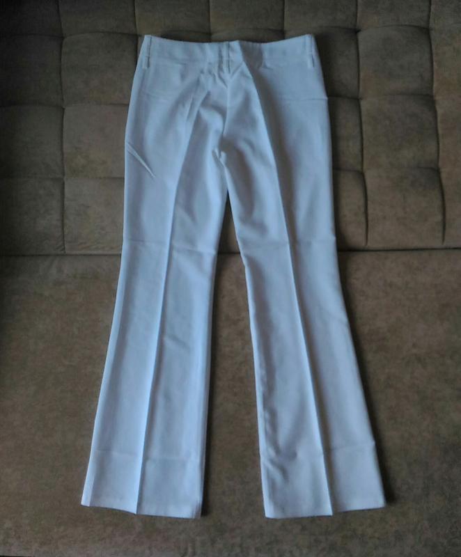 Летние белоснежно-белые брюки клёш top girl размер l