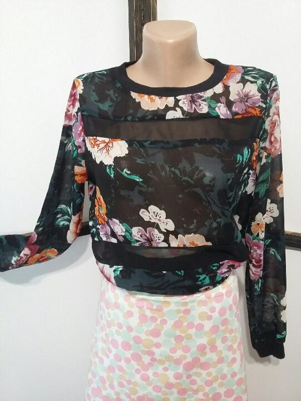 Свитшот блуза athmosphere шифоновая