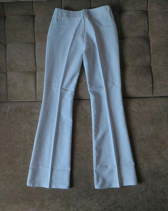 Летние белоснежно-белые брюки клёш top girl размер xs