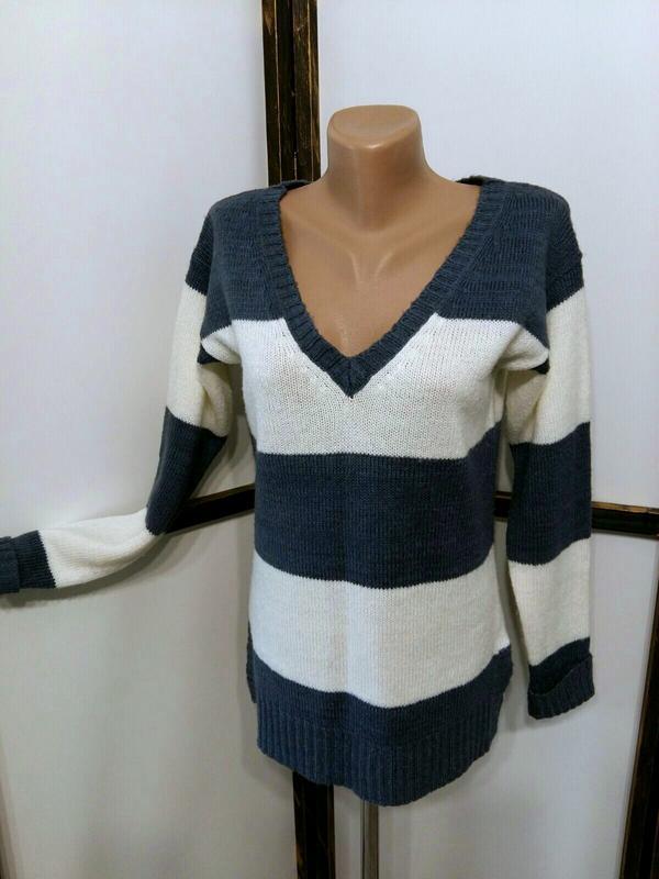 Пуловер джемпер свитер в полоску бренд atmosphere - Фото 2