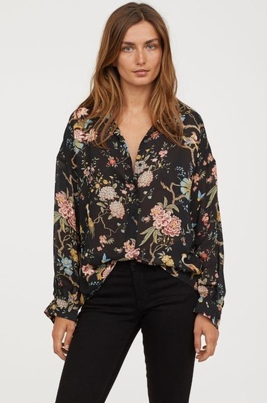 "Блуза с объемными рукавами ""gp&jbaker  h&m"""