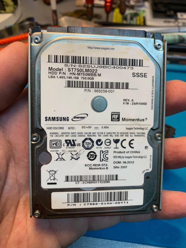 Жесткий диск для ноутбука Samsung 750gb st750lm022 б/у