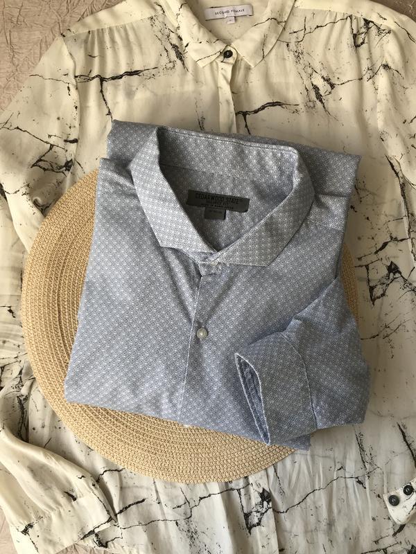 Хлопковая принтованная рубашка tailored fit