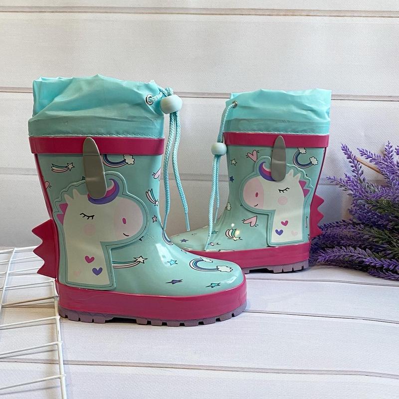 Детские резиновые сапоги  сапожки для девочки пони они вау