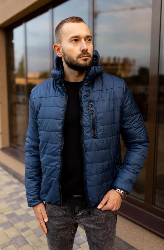 Куртка мужская на весну стеганая демисезон / куртка весна весе... - Фото 3