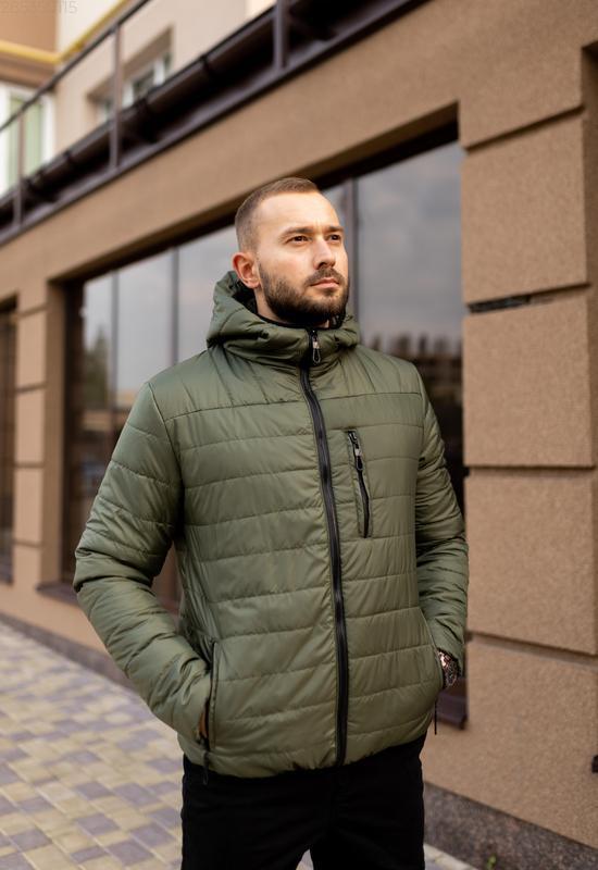 Куртка мужская на весну стеганая демисезон / куртка весна весе... - Фото 2