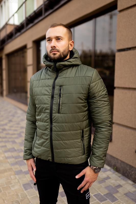 Куртка мужская на весну стеганая демисезон / куртка весна весе... - Фото 4
