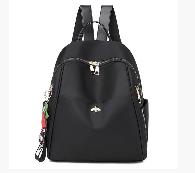 Рюкзак женский городской черный нейлоновая ткань