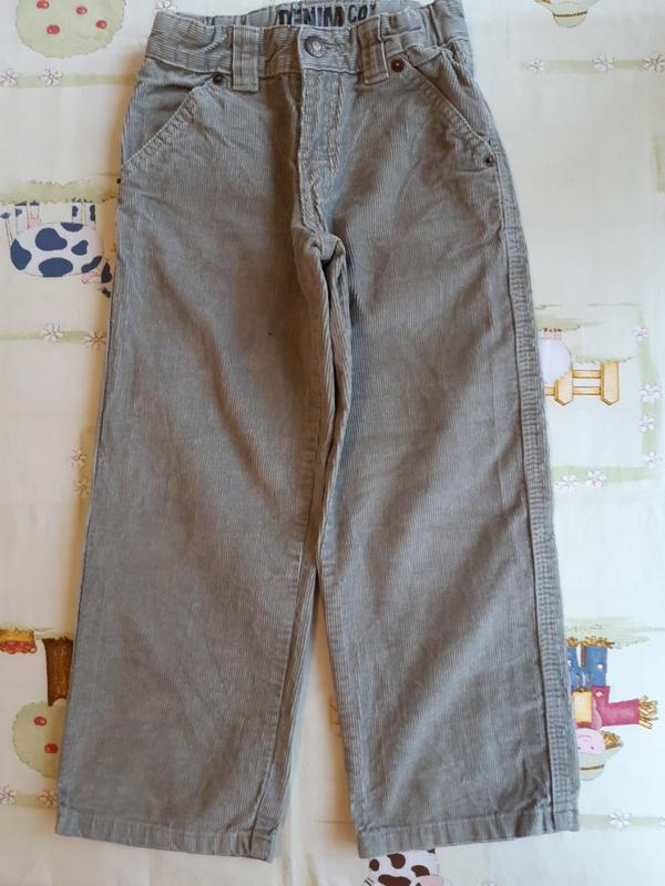 Вельветовые брюки denim для мальчика 5-6 лет